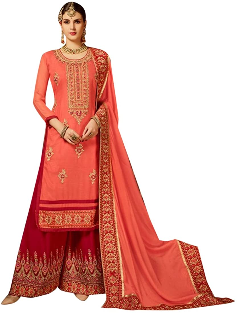 Bollywood Party Palazzo Style Straight Salwar Kameez Custom to Measure Indian Ethnic 2798