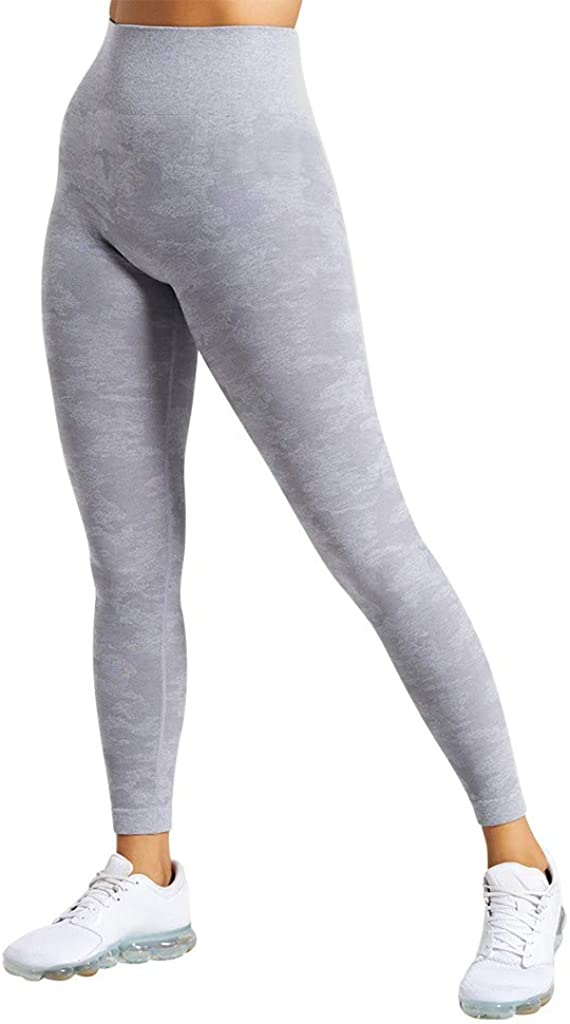 Ellymi Womens High Waisted Seamless Leggings Tummy Control Workout Athletic Yoga Pants Compression Skinny Tights