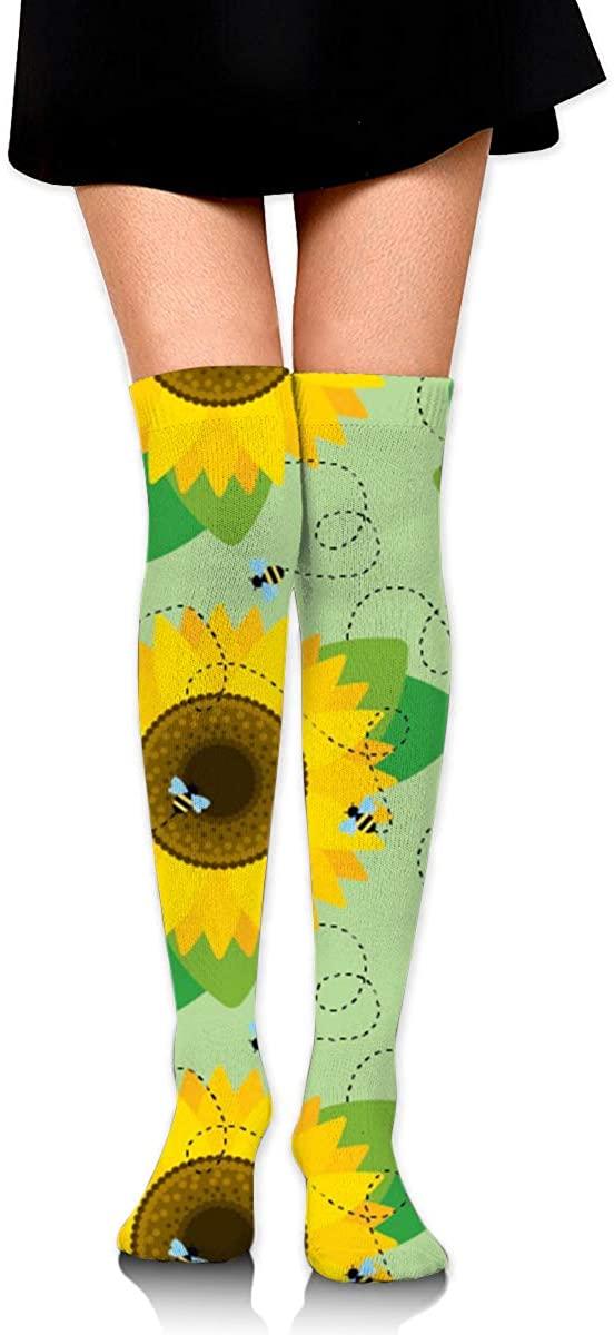 Game Life High Socks Bee Sunflower Sport Socks Crew Socks