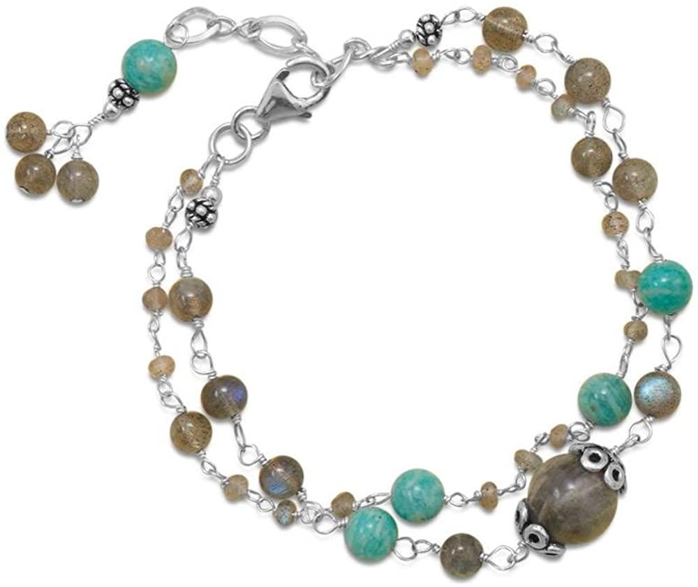 .925 Sterling Silver Baila Luna Multistone Women's Bracelet