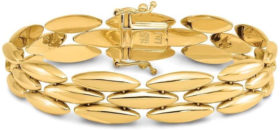 Leslie's 14k Polished Fancy Link Bracelet
