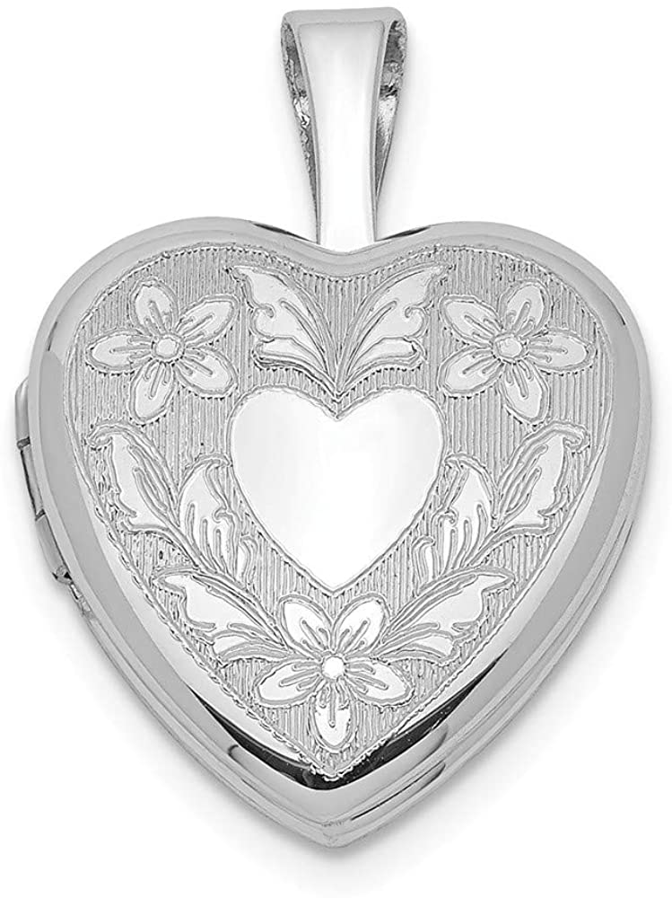 925 Sterling Silver Heart Wings 12mm Photo Pendant Charm Locket Chain Necklace That Holds Pictures Fine Jewelry For Women Gifts For Her