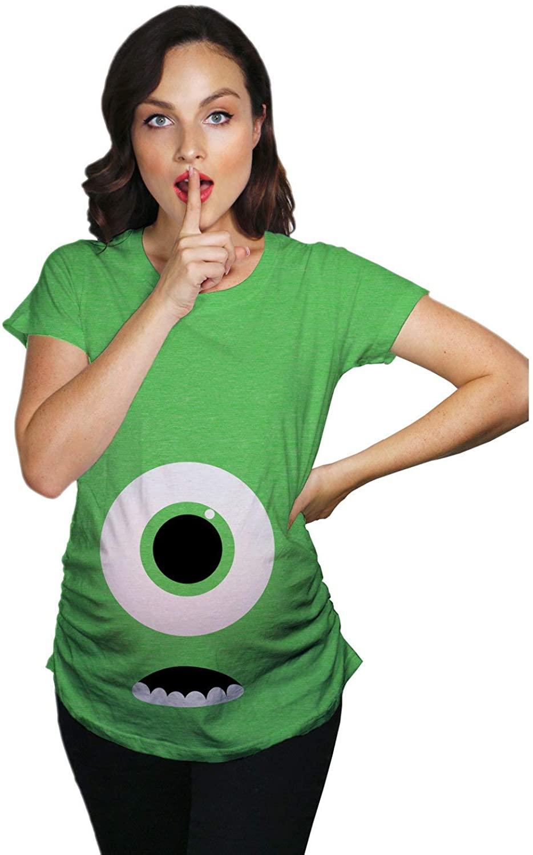 Monster Eye Maternity Shirt, Halloween Maternity Shirt, Funny Maternity Shirt, Funny Pregnant Shirt, Baby Announcement Shirt, Cute Maternity