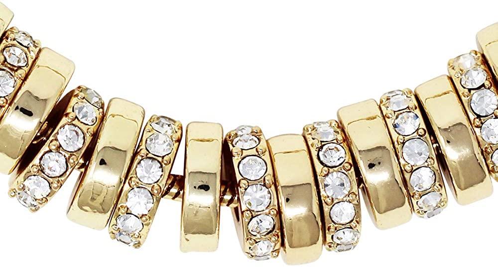 Kenneth Cole Women's Pave Beaded Adjustable Friendship Bracelet, Gold, One Size