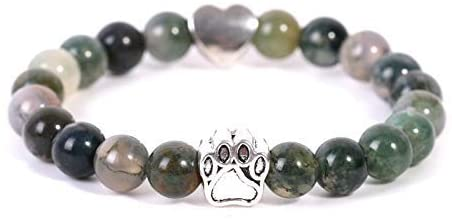 BXZ Stone Bracelet,Green Bracelet Tiger Eye Stone Bracelet Women Animal Paw Bracelet Men and Women Attend Parties and Give Their Friends The Best Gift.