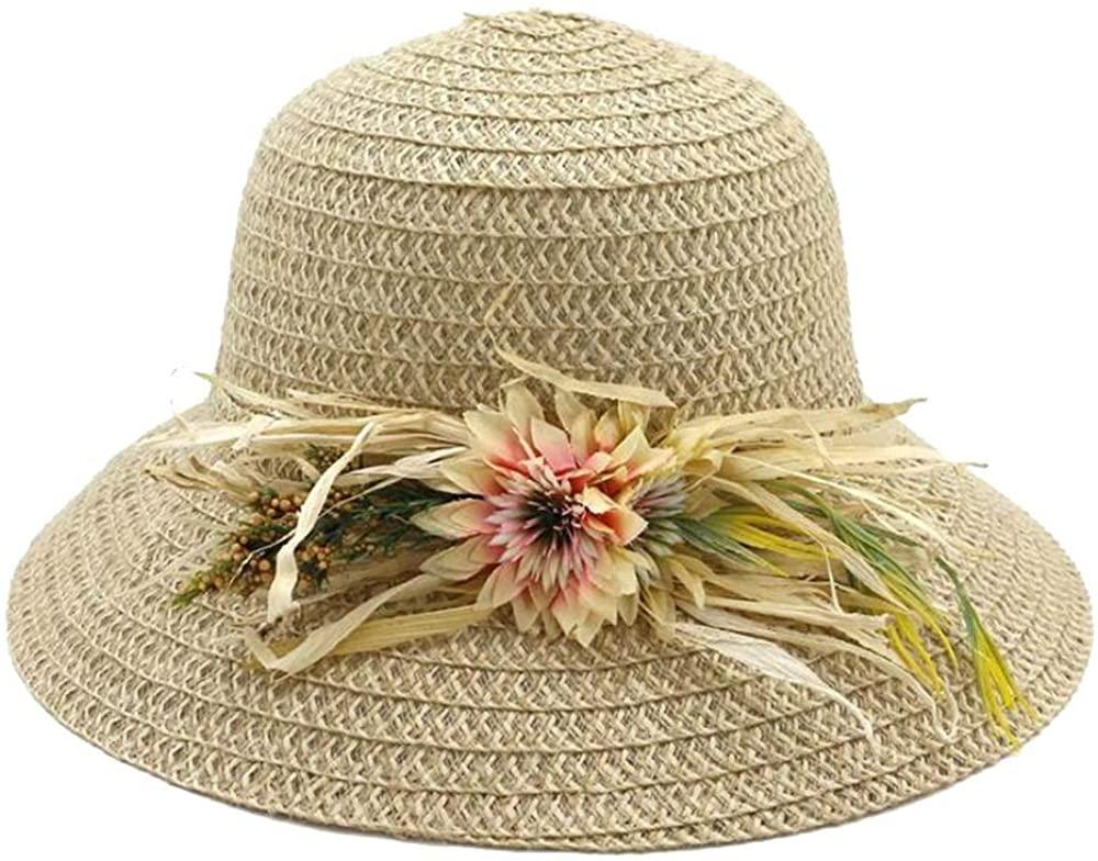 Fashion Women's Handmade Straw hat Sun Visor Female Big Beach hat Sweet Basin Hat Folding Hat Comfortable