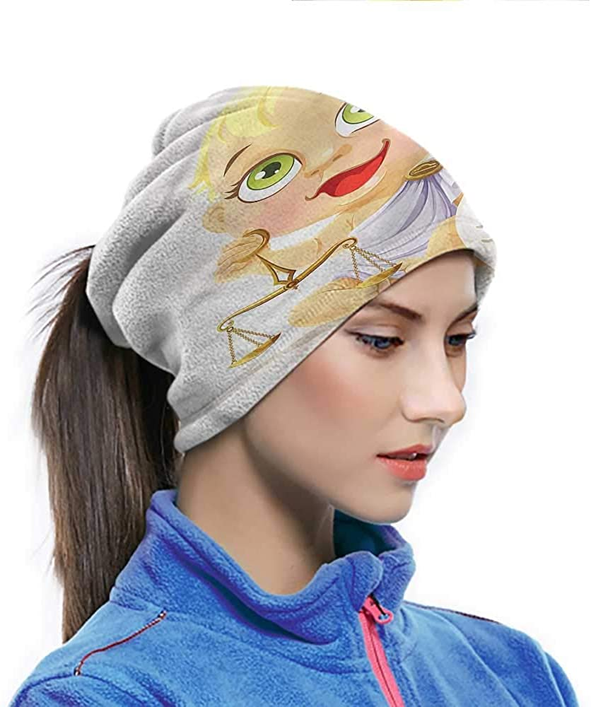 Magic Scarf Zodiac Libra, Baby Ancient Greek Elastic Headwear for Hunting Kayaking and Other Outdoor Activities 10 x 11.6 Inch