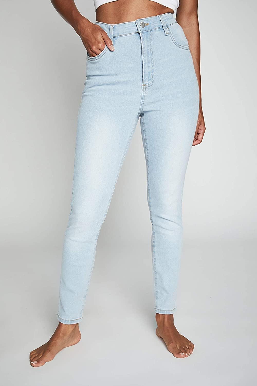 Cotton On Women's High Rise Cropped Skinny Denim Jean