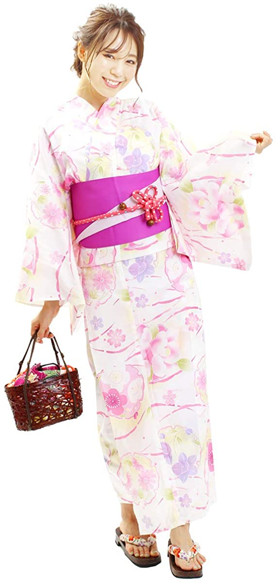 Fuuka Kimono Yukata Women's Single Item 20 Patterns to Choose F Size