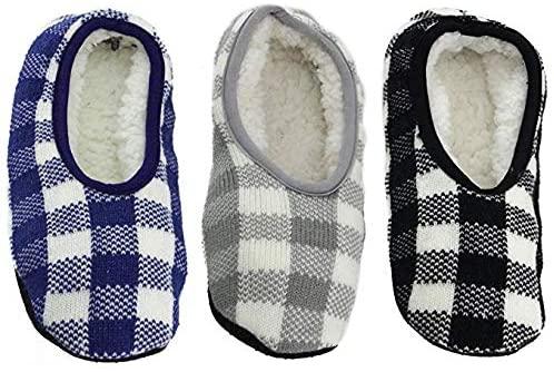 Adult Super Soft Warm Microfiber Travel Sock Footsie Slipper - Cozy Slip On