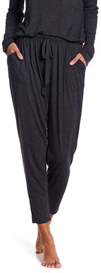 Josie Womens Jogger Sweatpants, Black Heather, X-Small
