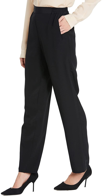 LilySilk Women Silk Long Pants Bottoms 18MM Elastic Waist Daily Soft
