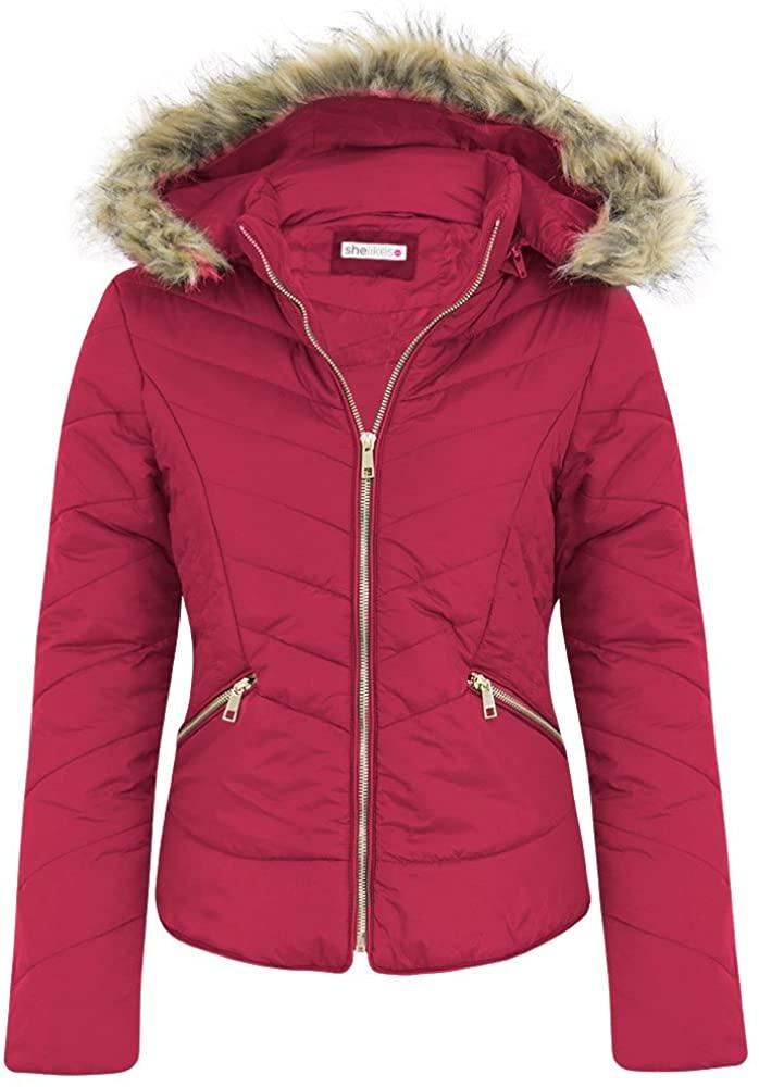 shelikes New Womens Zigzag Quilted Fashion Jacket