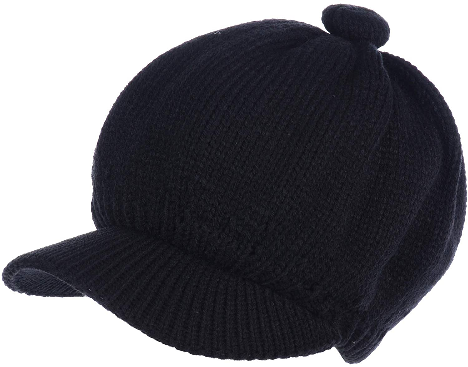 BYOS Womens Winter Cozy Fleece Lined Newsboy Knit Cap Cabbie Hat (Set Available)