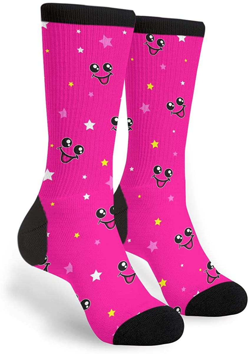 Unisex Casual Cotton Crazy Crew Socks - Smile And Eyes Socks,Christmas Gifts