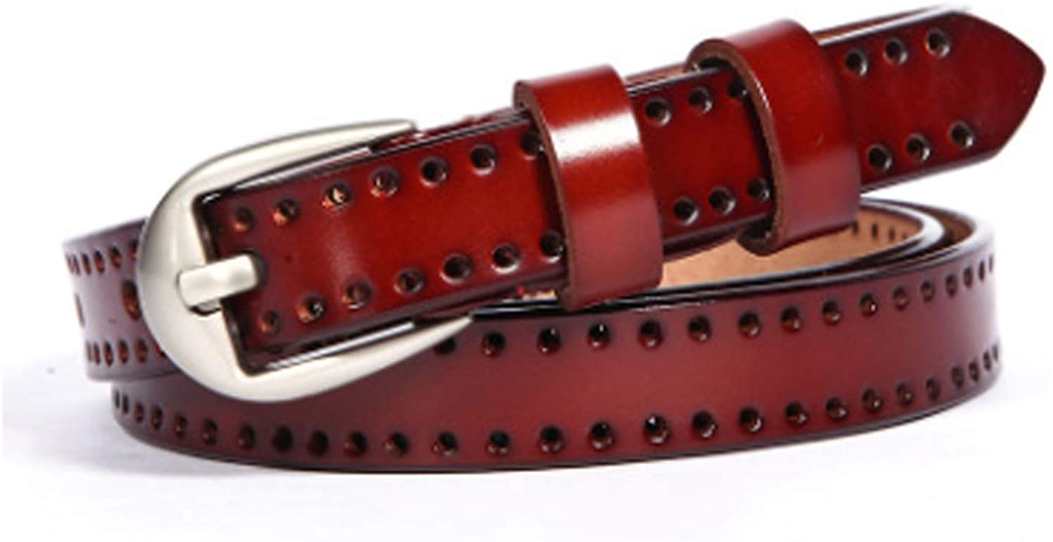 New Genuine Leather Pin Buckle WomenS Belt Casual Fashion Cowskin Waistband Belt