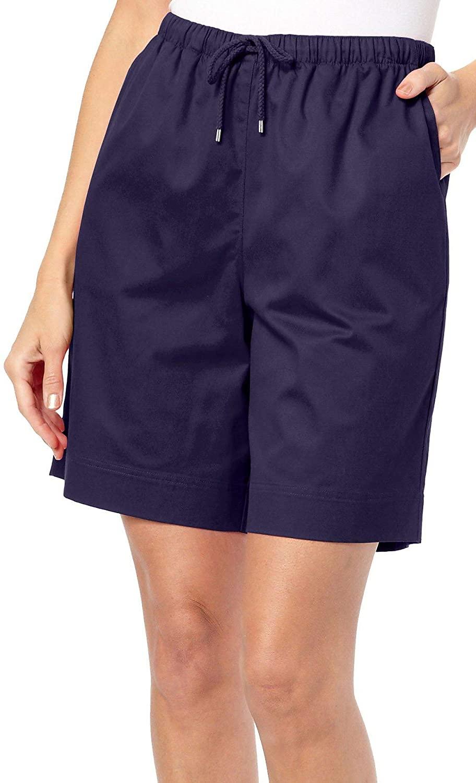 Coral Bay Womens The Everyday Twill Drawstring Shorts