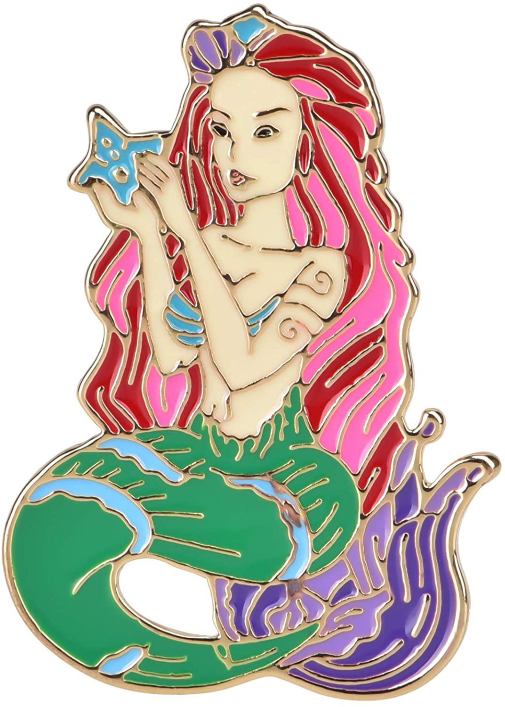 Avamie Mermaid Enamel Lapel Pin