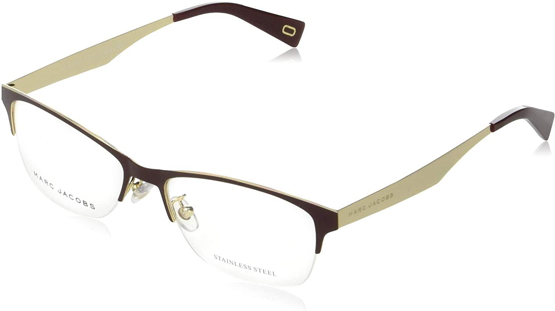 Marc Jacobs Metal Rectangular Eyeglasses 52 0LHF Opal Burgundy