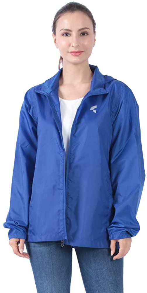 Somewell Women's Waterproof Raincoat, Outdoor Lightweight Packable Hooded Rain Jacket Windbreaker(6 Colors XS-4XL)