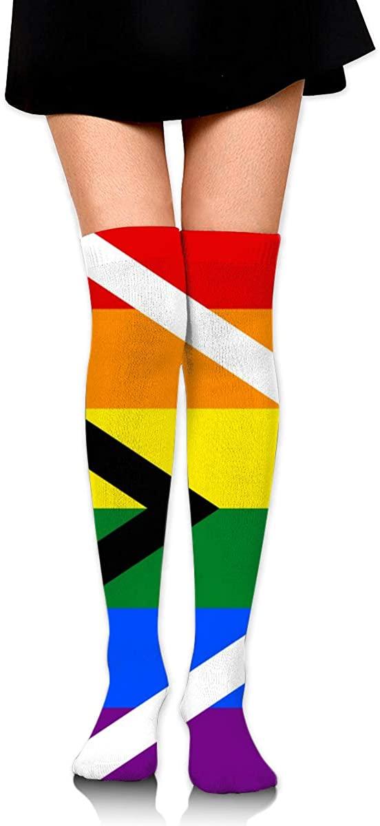 Game Life High Socks Gay Pride Flag Of South Africa Sport Socks Crew Socks