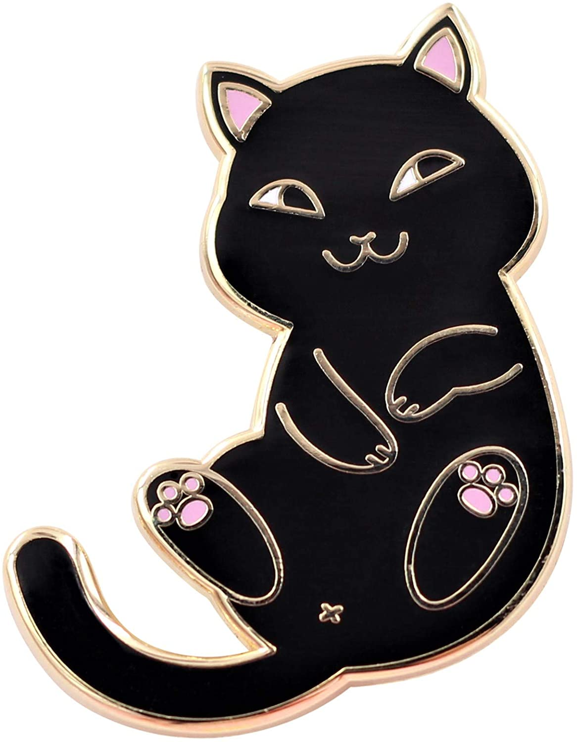 Real Sic Playful Cat Enamel Pin - Cute & Funny Cat Lapel Pin in for Jackets, Backpacks, Tops, Bags & Hats