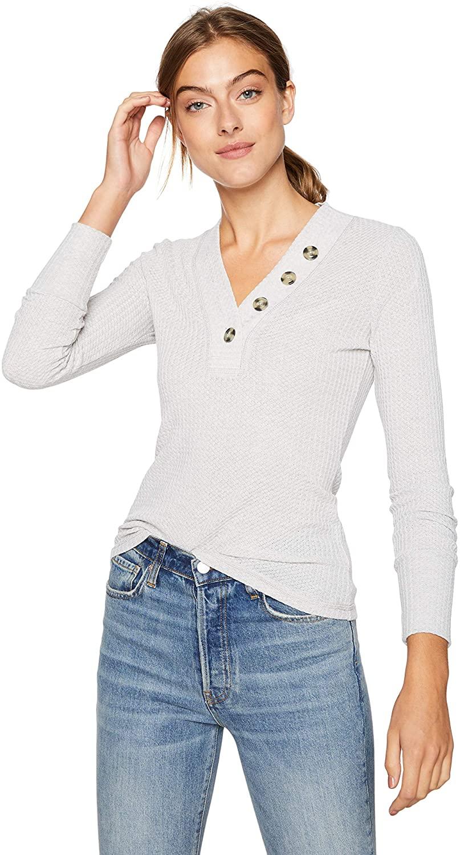 William Rast Women's Anna Long Sleeve Henley Top