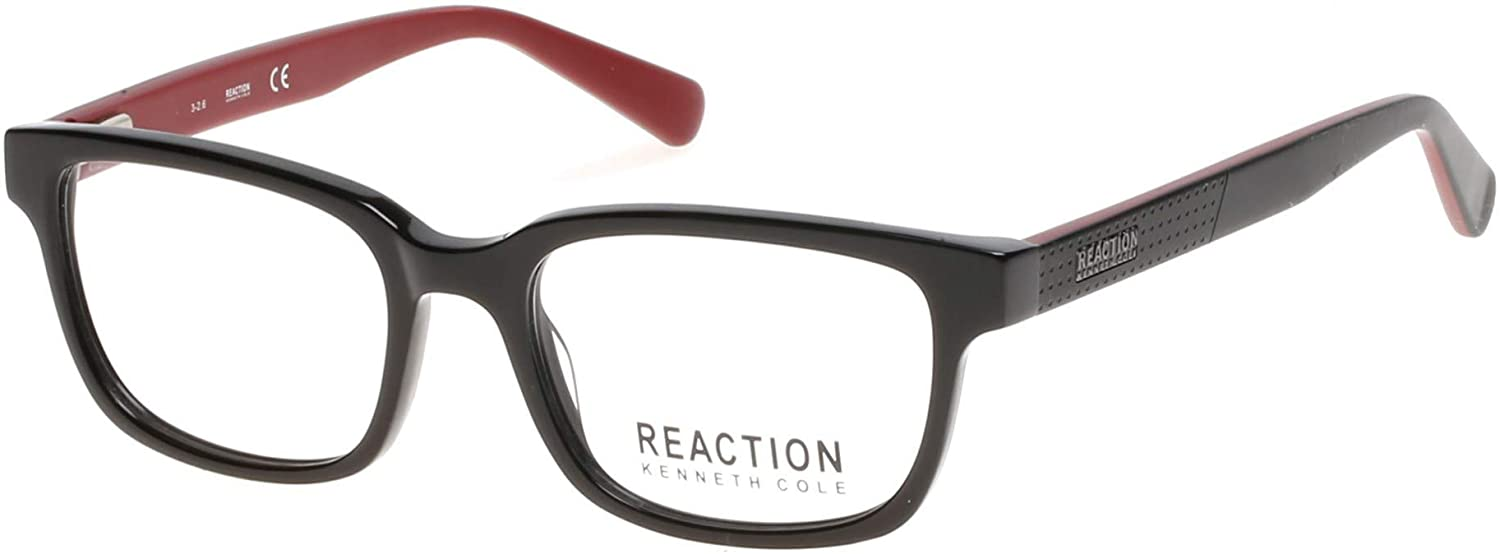 Eyeglasses KENNETH COLE REACTION KC 0794 001 Shiny Black Clear Lens