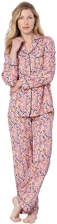 PajamaGram Women Pajamas Silky Rayon - Womens PJs, Pink