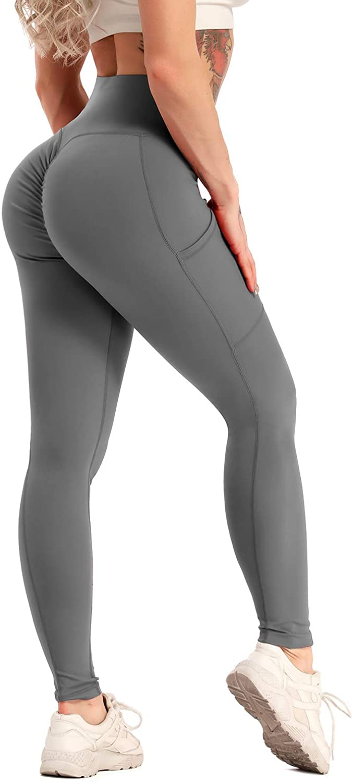 YOFIT Women High Waist Butt Lifting Workout Gym Leggings Scrunch Booty Anti Cellulite Tummy Control Yoga Pants