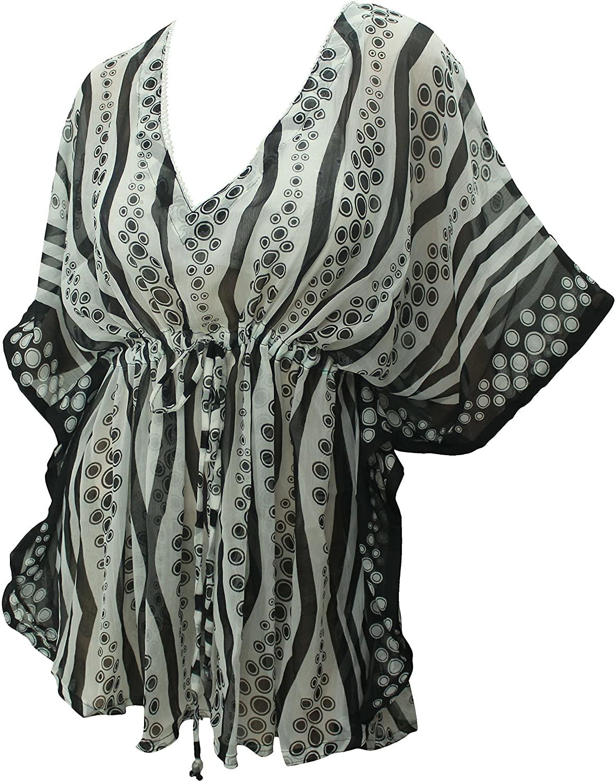 LA LEELA Women's Bathing Suit Cover Up for Beach Pool Swimwear Drawstring A