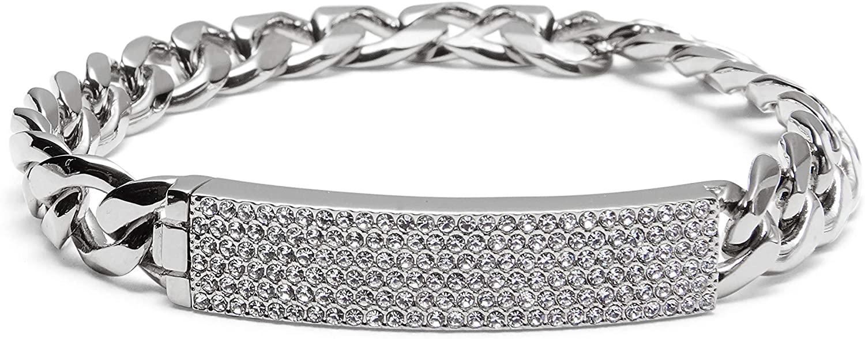 NADRI Large Pave ID Chain Chain Bracelet
