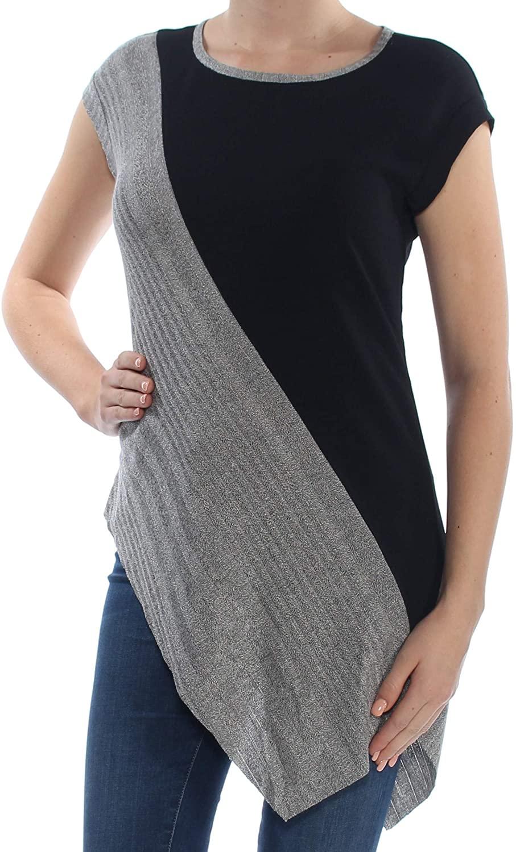 Bar III | Bar Basics Colorblocked Asymmetrical Top Blazer | Navy