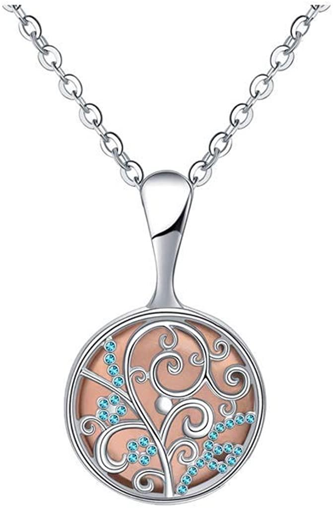 LENXH Women's Fashion Necklace Stainless Steel Pendant Necklace Casual Diamond Necklace