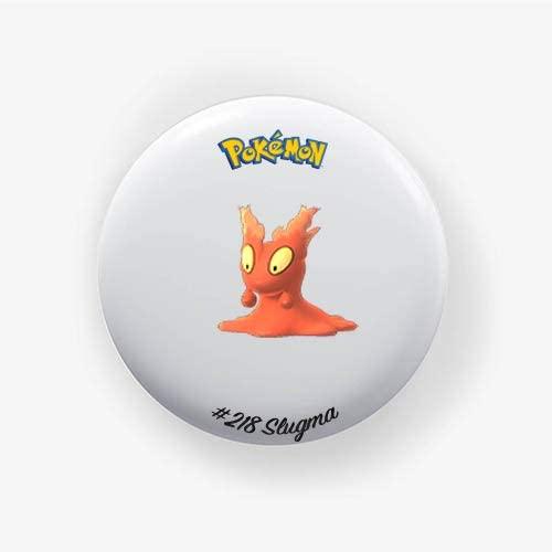 Slugma #218 : Go, Pinback Button Badge 1.50 Inch (38mm)