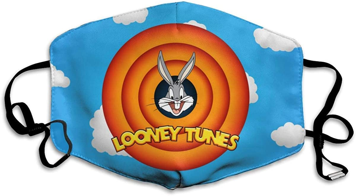 Reusable Face Mouth Cover Looney Tunes with Adjustable Breathable Face Cover