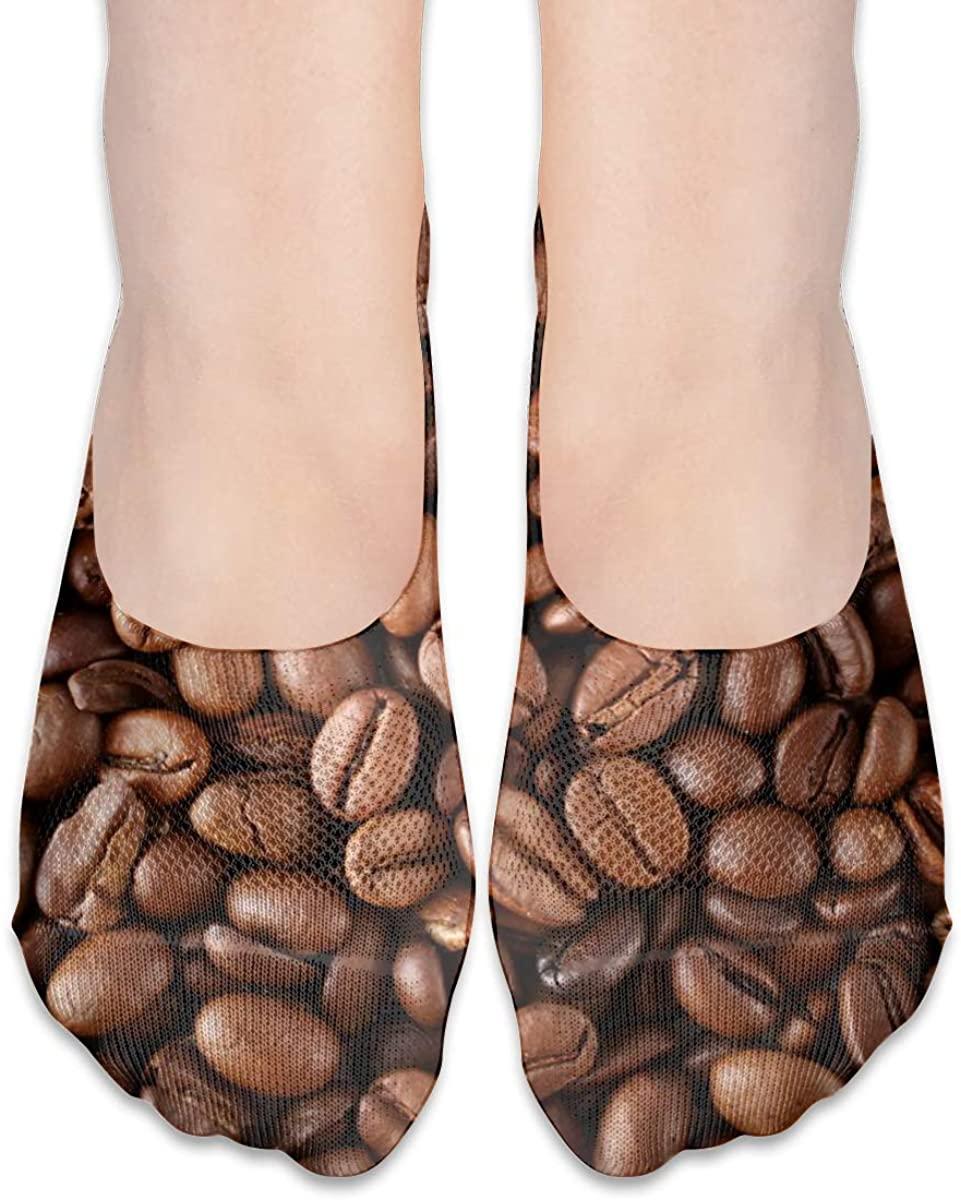 Coffee Beans No Show Socks Women Low Cut Non Slip Short Ankle Socks