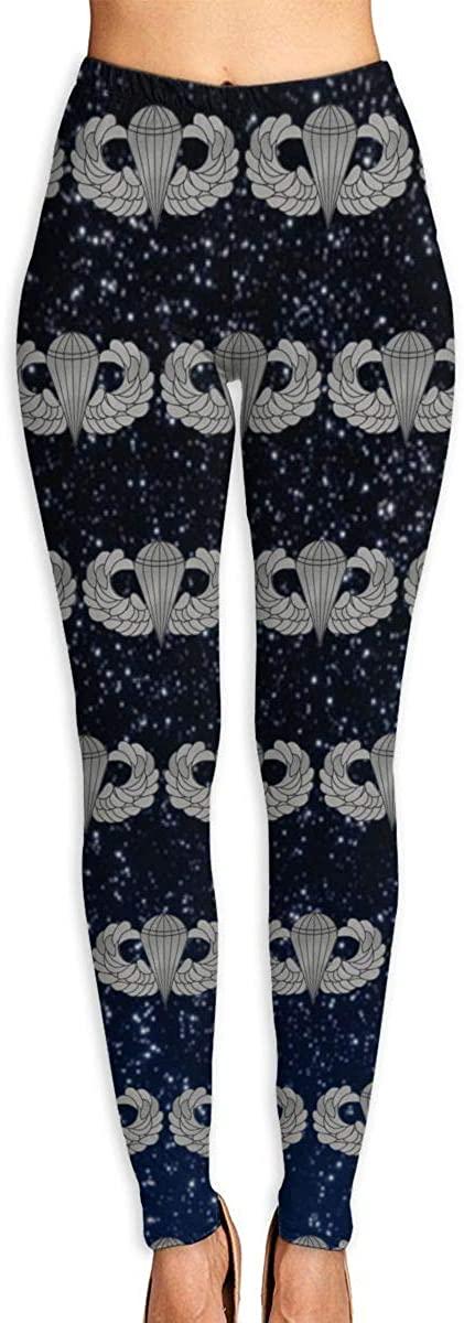 Us Army Basic Jump Wings Women's 3D Digital Print High Wait Leggings Yoga Workout Pants