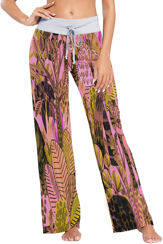 nobrand Womens Pajama Lounge Pants Cute Fun Monsters Cool Wide Leg Casual Palazzo Pj Sleep Pants Girls