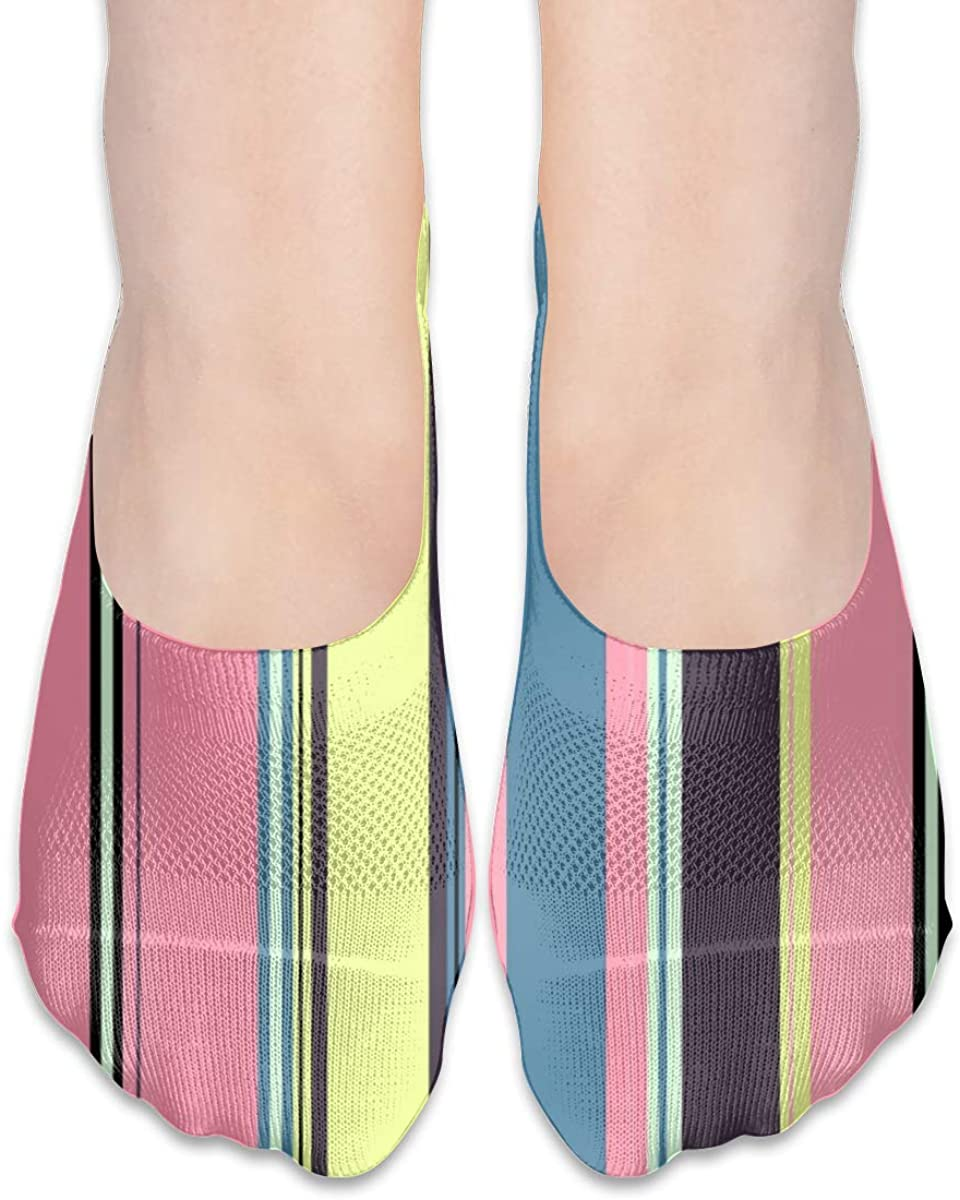 Stripes Striped No Show Socks Womens Low Cut Non Slip Ankle For Flats Loafer