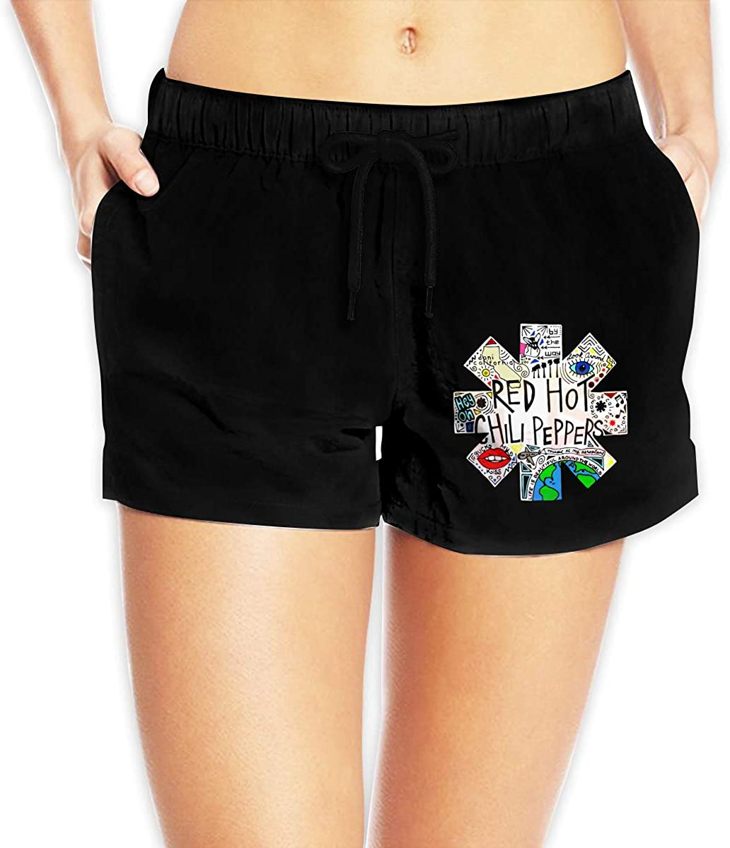 Women Sexy Hot Pants Summer Casual Shorts Red Hot Chili Peppers Short Beach Trousers