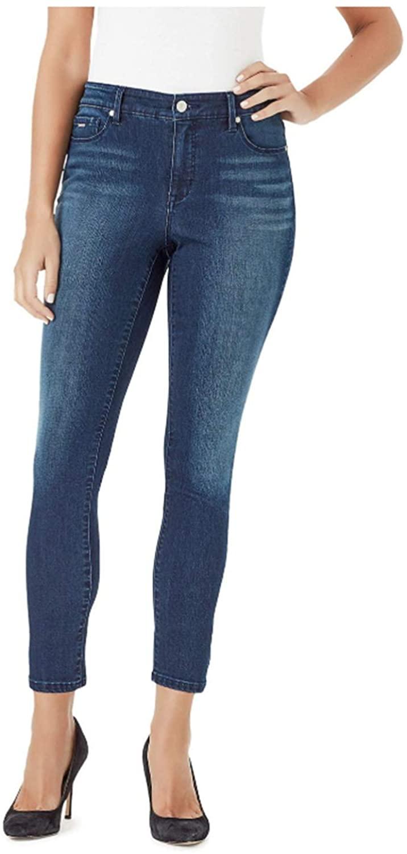 NINE WEST Gramercy Skinny Ankle Jean (4, Archipelago)