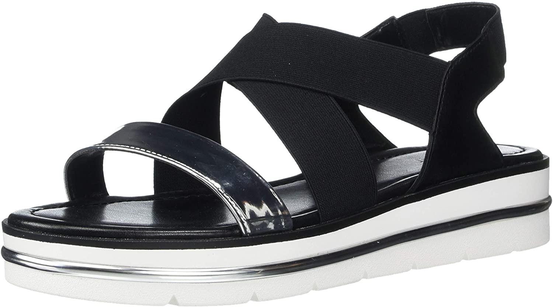NINE WEST Women's wnALANA2 Sport Sandal, Black Silver, 11