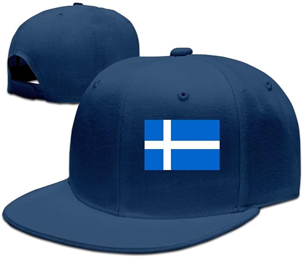 Iceland FlagBaseball Caps Grid Hat Adjustable Trucker Cap Bandanas