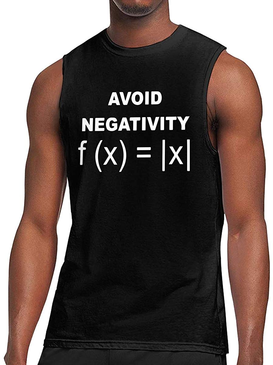 GUAHUAXIANG Avoid Negativity Funny Math Mens Muscle T-Shirt Bodybuilding Sleeveless Tank Top Black