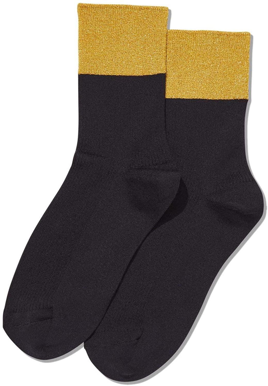 Hot Sox Womens Color Block Metallic Anklet Socks