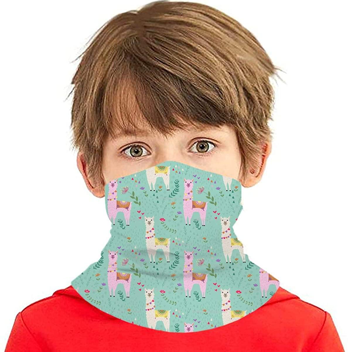 Youth Face Bandanas, Llama Reusable Face Mask Half Face Towel Mouth Cloth Facial Scarf Variety Headscarf