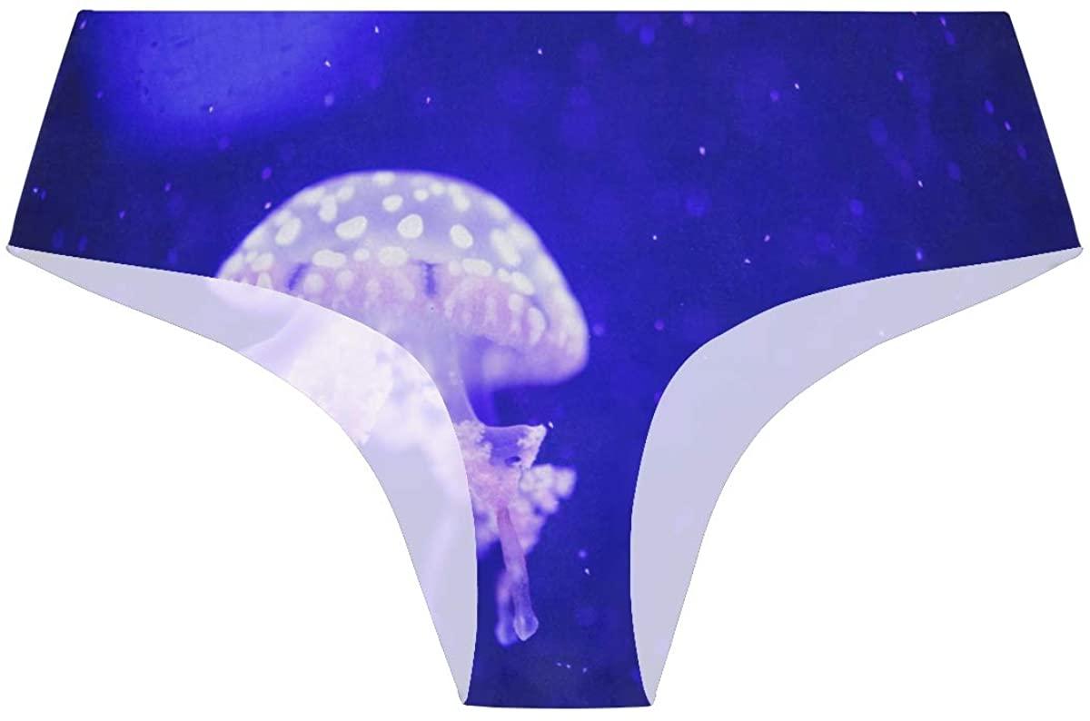 Randolph Wordsworth Beautiful Corals and Jellyfish Womens Stretch Seamless Underwear Laser Cut Bikini Panties