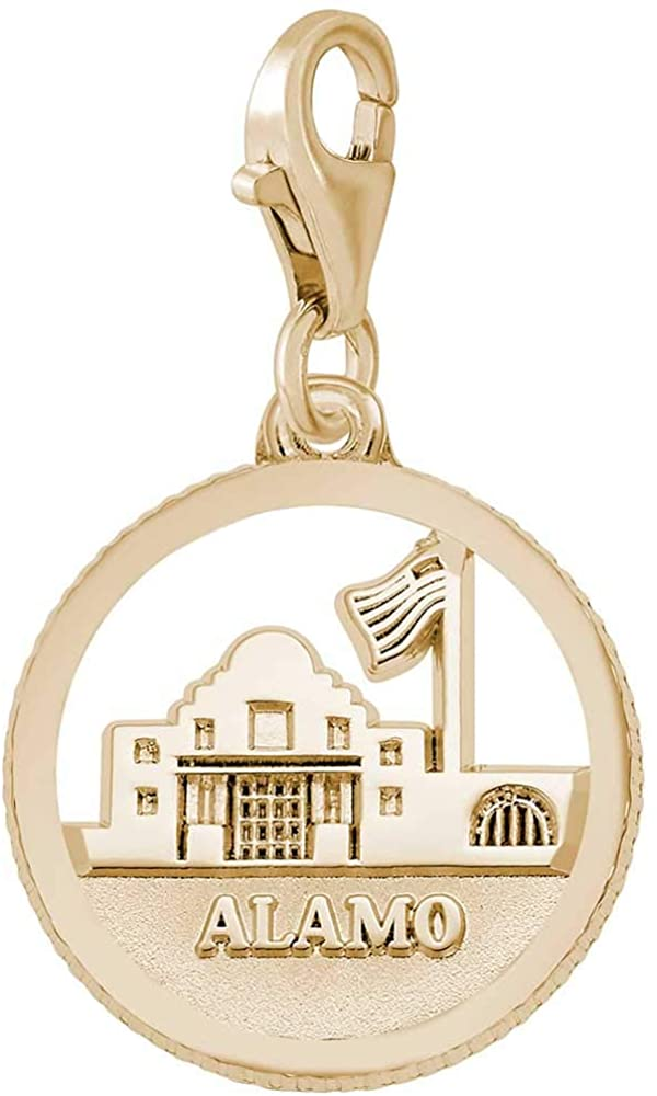 Rembrandt Charms Alamo Charm with Lobster Clasp, 10K Yellow Gold
