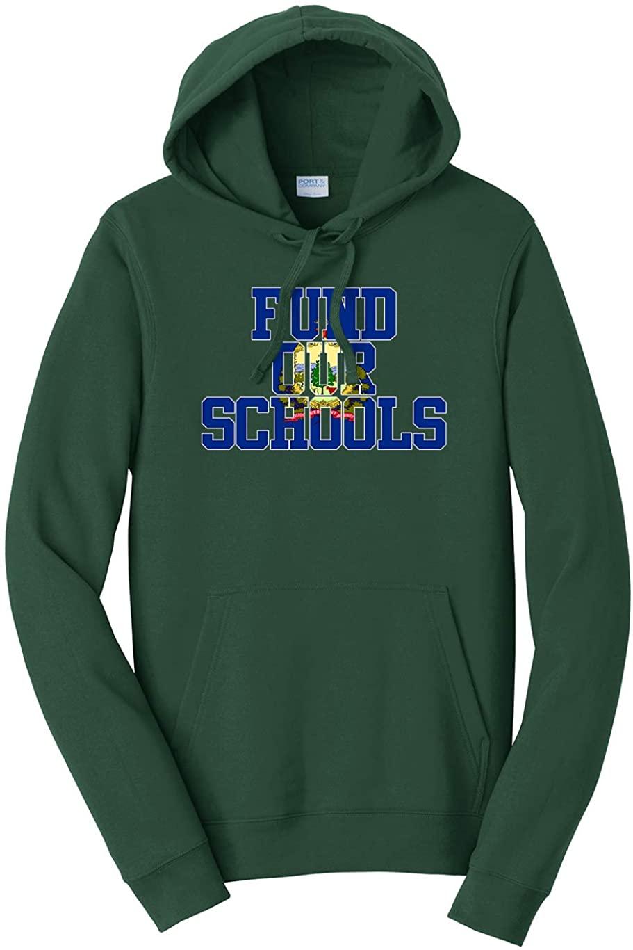 Tenacitee Unisex Fund Our Vermont Schools Hooded Sweatshirt